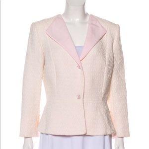 Carolina Herrera embroidered Pink blazer